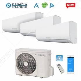Condizionatore Climatizzatore Olimpia Splendid Trial Split Nexya S4 R-32 9000+9000+12000 Con OS-CEMEH26EI WI-FI Ready