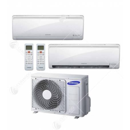 Condizionatore Climatizzatore Samsung Dual Split Inverter Serie P Plus 12000+12000 Con AJ050FCJ
