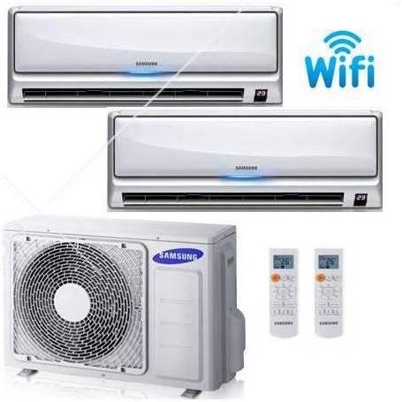 Condizionatore Climatizzatore Samsung Dual Split Serie DLX Smart Wi-fi  9000+9000 BTU Con AJ040FCJ2EH/EU