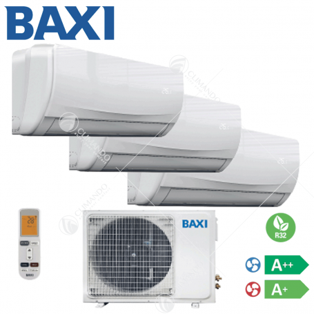 Condizionatore Climatizzatore Baxi Dual Split Inverter Moonlight R-32 7+7 7000+7000 Con LSGT50-2M