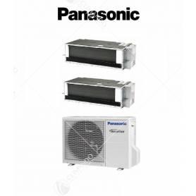 Condizionatore Climatizzatore Panasonic Dual Split Inverter Canalizzato R-32 9000+9000 9+9 Con CU-2Z41TBE