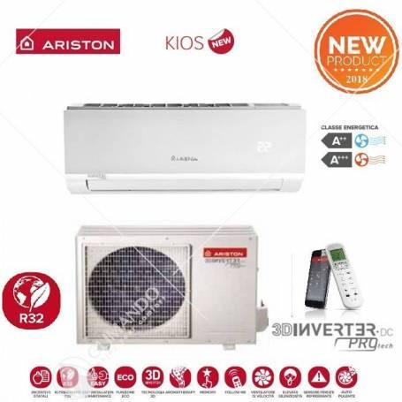 Climatizzatore Condizionatore Ariston Inverter Monosplit Serie Kios R-32 35 MUD0 12000 BTU