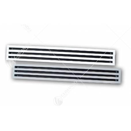 Diffusori Lineari a 1 Feritoia in Alluminio Anodizzato