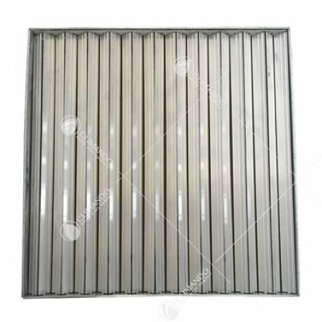 Bocchetta di ripresa in alluminio a maglia quadra fissa 600X600, per controsoffitti modulari con telaio