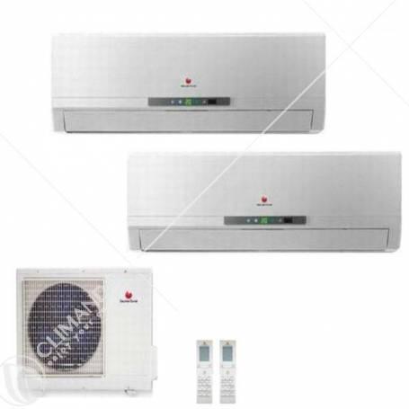 Condizionatore Climatizzatore Saunier Duval Uni Comfort SDH  Dual Split Inverter 9+9 9000+9000 BTU Con SDH17 060-MC2NO