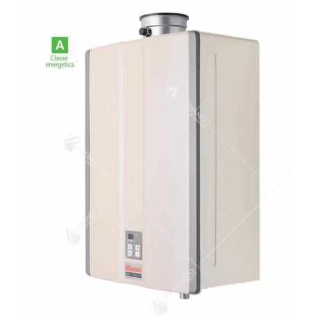 Scaldabagno A Gas Rinnai Infinity KB32I Interno A Condensazione Metano Completo di Kit Fumi