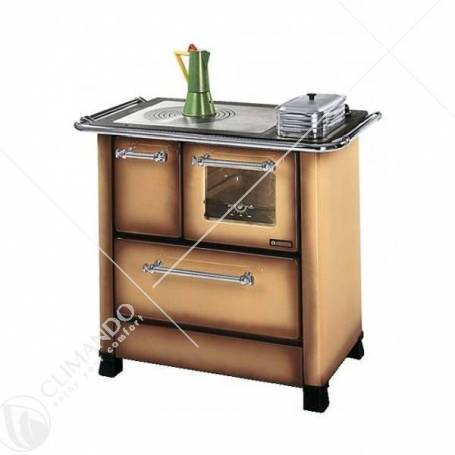 Cucina A Legna In Acciaio Porcellanato La Nordica Extraflame Mod. Romantica 4,5 DX 6,0 KW Bianca