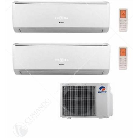 Condizionatore Climatizzatore Gree Dual Split Serie Lomo 12000+12000 BTU Con GWHD(18)NK3KO 12+12