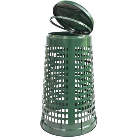 pattumiera tresp. lt.110 d.cm.51-38 h85 verde