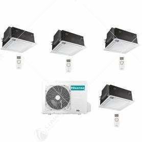 Condizionatore Climatizzatore Quadri Split Hisense a Cassetta 12000+12000+12000+12000 Con 4AMW105U4RAA