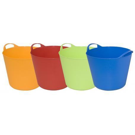 cesta multiuso lt.25 cm.38x30h colori assort. confezione da 12