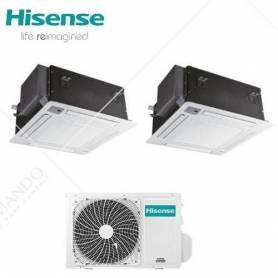 Condizionatore Climatizzatore Hisense Dual Split Inverter a Cassetta 12000+12000 Con 2AMW50U4RXA