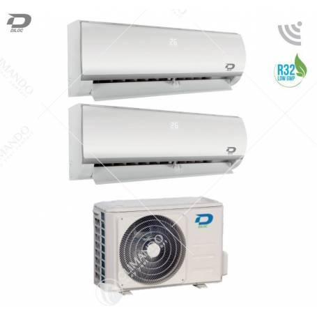 Condizionatore Climatizzatore Diloc Dual Split Inverter Frozen R-32 9000+9000 Btu Con FROZEN200 Wi-Fi Optional
