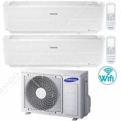 Condizionatore Climatizzatore Samsung Dual Split Inverter Windfree Evo R-32 Wi-Fi 9000+12000 BTU Con AJ050NCJ2EG/EU