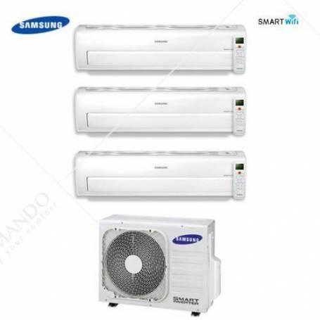 Condizionatore Climatizzatore Samsung Dual Split Inverter Serie AR7000M Smart WIFI 7000+7000 Con AJ040NCJ2EG/EU