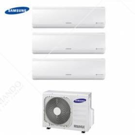 Condizionatore Climatizzatore Samsung Trial Split Inverter Serie New Style 7000+7000+7000 Con AJ052MCJ3EH/EU