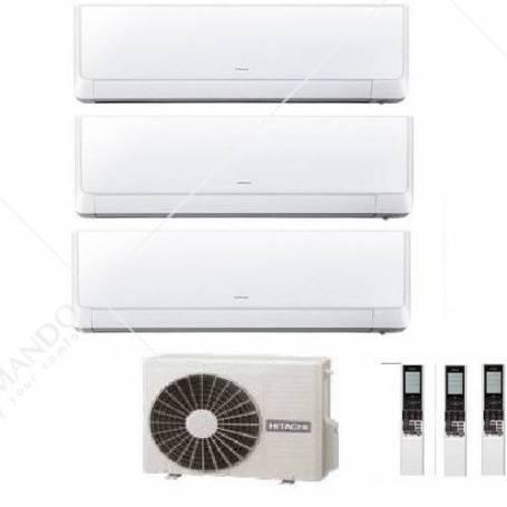 Condizionatore Climatizzatore Hitachi Dual Split Inverter Akebono R-32 9000+9000 BTU Con RAM-40NP2B Wi-Fi Optional
