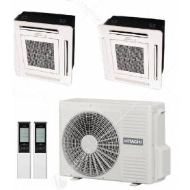 Condizionatore Climatizzatore Hitachi Monosplit a Cassetta 4 Vie R-32 60x60 9000 BTU RAI-25RPA