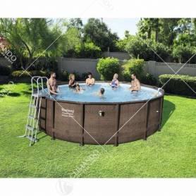 piscina rattan c/tel.compl.cm.488x122h 56666