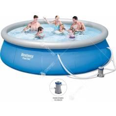 piscina gonfiabile c/pompa 396x84h 57321