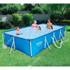 piscina c/telaio+pompa 400x211x81h 56424