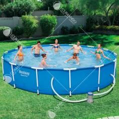 piscina c/telaio+pompa 427x84h 56595
