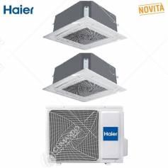 Condizionatore Climatizzatore Haier Monosplit Cassette 700 12000 BTU R-32 AB35S2SC1FA Pannello Incluso WI-FI Optionale