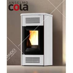 Stufa a Pellet Ventilata Cola Modello Ambra 6 KW Disponibile in Vari Colori