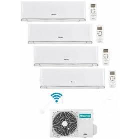 Condizionatore Climatizzatore Hisense Quadri Split Inverter Energy R-32 12000+12000+12000+Apple Pie 18000 Con 4AMW105U4RAA