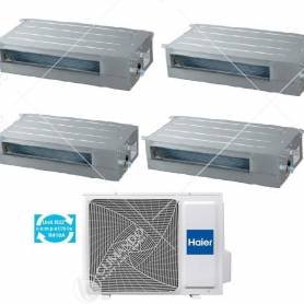 Condizionatore Climatizzatore Haier Quadri Split Canalizzato Bassa e Media Pressione R-32 9000+9000+12000+12000 Con 5U105S2SS2FA