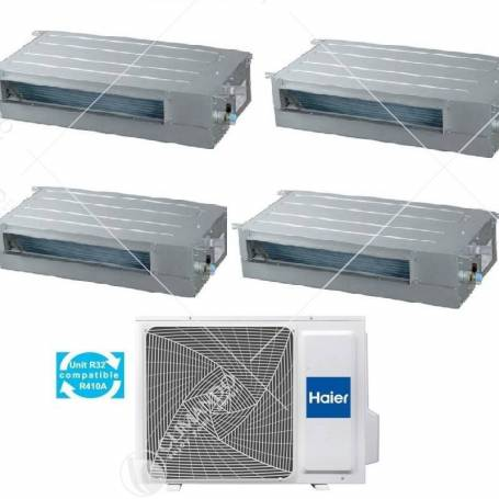 Condizionatore Climatizzatore Haier Dual Split Canalizzato Slim a Bassa Pressione R-32 9000+9000 Con 2U40S2SC1FA