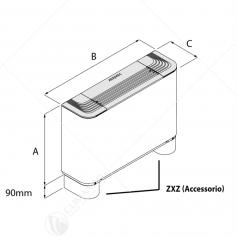 Coppia di Piedini Aermec ZXZ Per Installazione Verticale a Pavimento