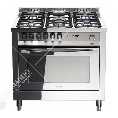 Cucina Lofra Bianco Perla Con Piano in Acciaio Lucidato a Specchio Modello Rainbow Cookers PBP66GVT/C