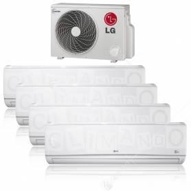 Condizionatore Climatizzatore LG quadri split inverter Libero 9+9+9+12 BTU con MU4M25 U44