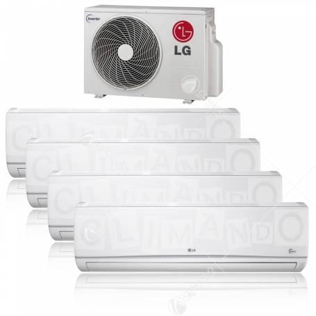 Condizionatore LG quadri split inverter Libero 9+9+9+9 con MU4M25 U44