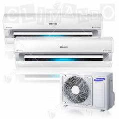Condizionatore dual split Samsung inverter 9+9 Serie AR9000M Smart WIFI 9000+9000 BTU con AJ040FCJ