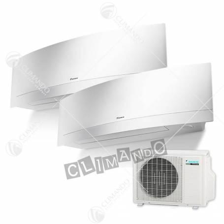 Condizionatore Daikin dual split inverter 7+9 Emura White Wi-Fi 7000+9000 BTU con 2MXS40H