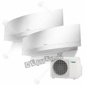 Condizionatore Daikin dual split inverter 9+9 Emura White Wi-Fi 9000+9000 BTU con 2MXS40H
