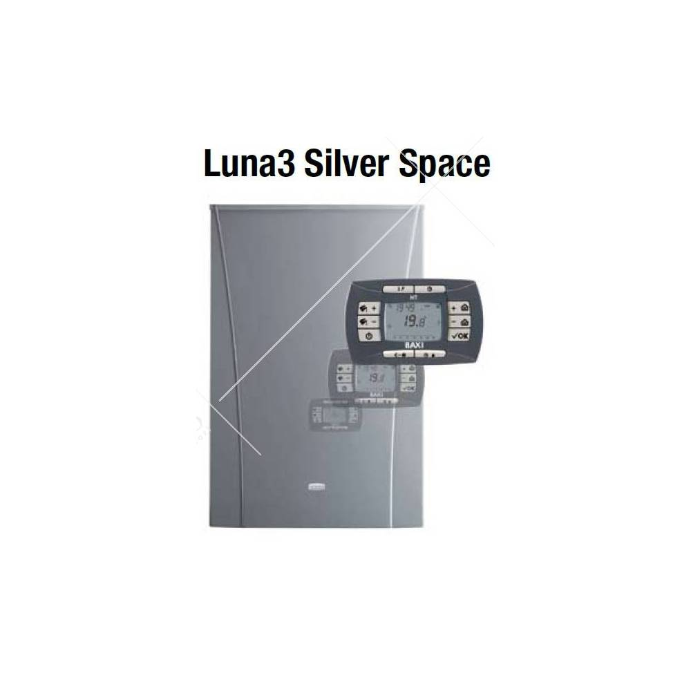 Caldaia baxi luna3 silver space ht 240 a condensazione da for Baxi luna 3 silver space