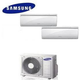 Condizionatore Climatizzatore dual split Samsung inverter 9+9 Maldives Quantum 9000+9000 BTU con AJ050NCJ2EG/EU