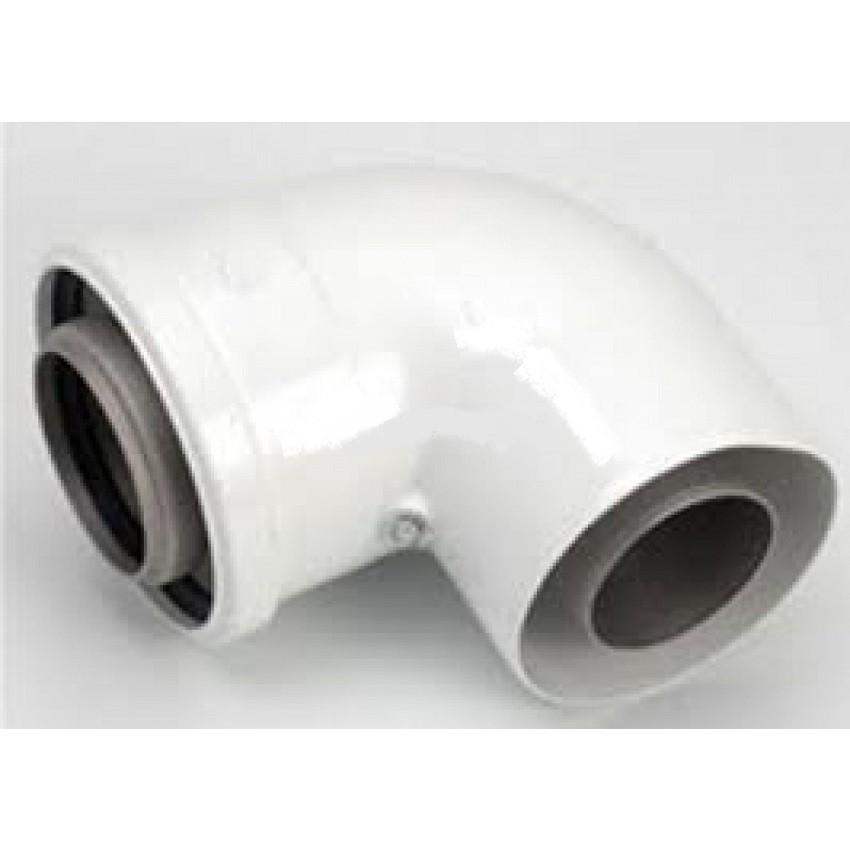 Curva 90 compatibile per caldaie e scaldabagni for Radiatori a gas argo
