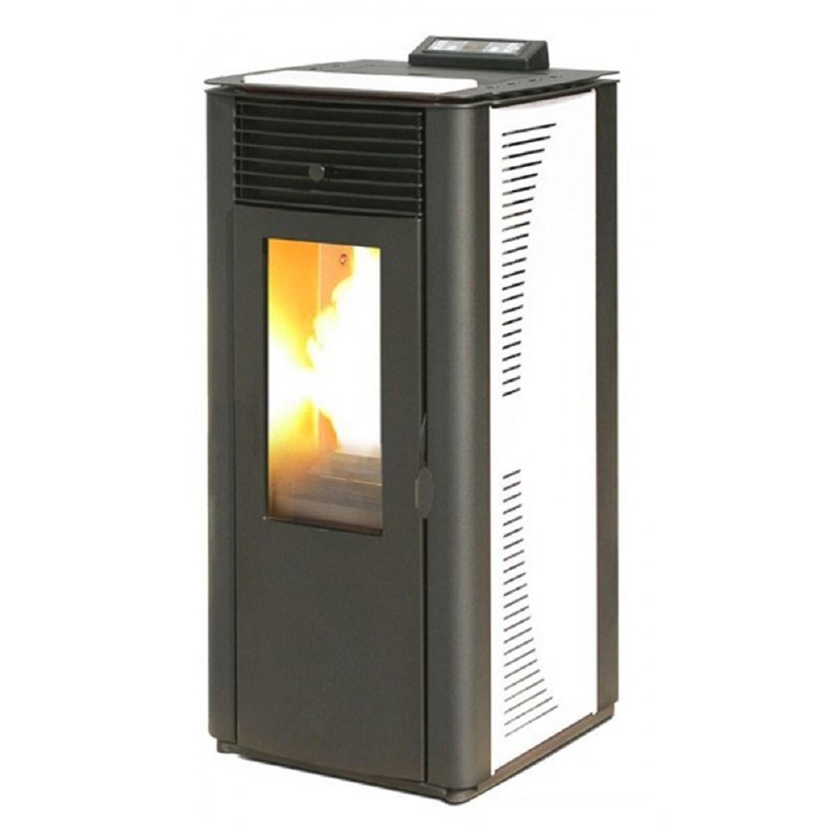 Termostufa a pellet king idro 20 kw bianca con telecomando for Radiatori a gas argo