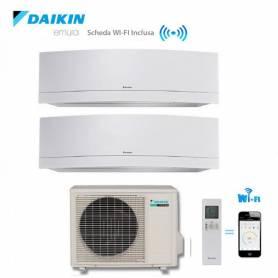 Condizionatore Climatizzatore Daikin dual split inverter 9+18 Emura White Wi-Fi 9000+18000 BTU con 2MXS50H