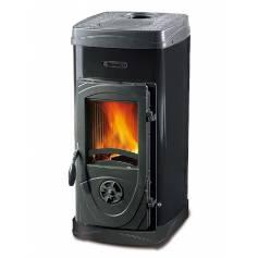 Stufa a legna in acciaio e ghisa fuoco continuo La Nordica Extraflame mod. Super Max 6 kW nera