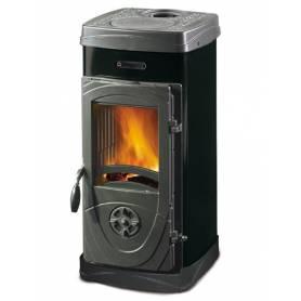 Stufa a legna in acciaio e ghisa fuoco continuo La Nordica Extraflame mod. Super Junior 5 kW nera