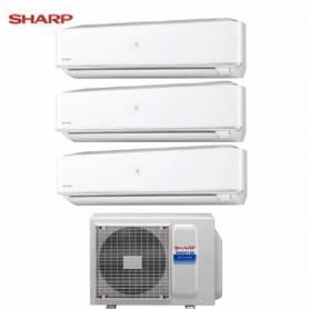 Condizionatore Climatizzatore Sharp trial split Hi Wall inverter Serie PHR 9+9+9 con AE-X3M24JR