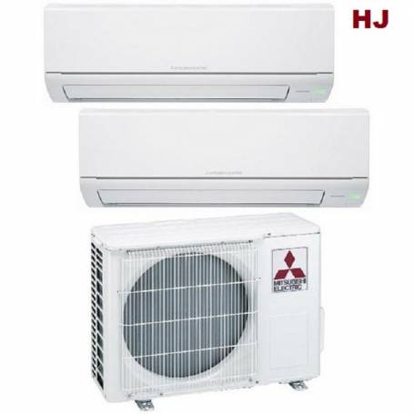 Condizionatore Climatizzatore Mitsubishi Electric dual split inverter Serie MSZ-HJ 9000+12000 con MXZ-2HJ40VA