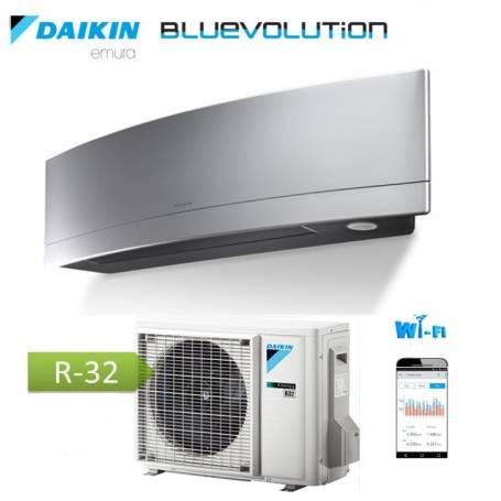 Condizionatore Climatizzatore Daikin inverter Emura Silver Wi-Fi FTXJ35MS R-32 Bluevolution 12000 BTU