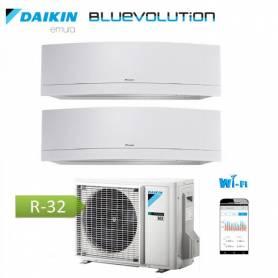 Condizionatore Daikin dual split inverter 12+12 Emura White Wi-Fi R-32 Bluevolution 12000+12000 BTU con 2MXM50M