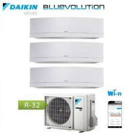 Condizionatore Climatizzatore Daikin inverter Serie Emura White Wi-Fi R-32 Bluevolution 7+9+12 con 3MXM52M 7000+9000+12000 BTU